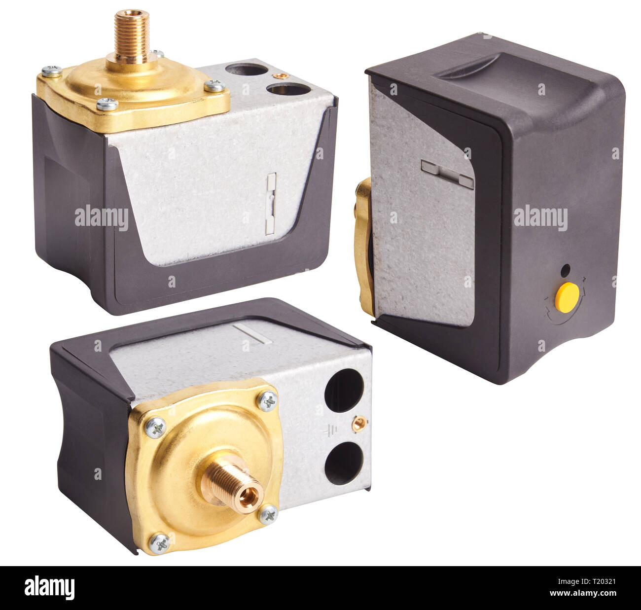 Water pressure switch for the pump. Press water guardian - Stock Image
