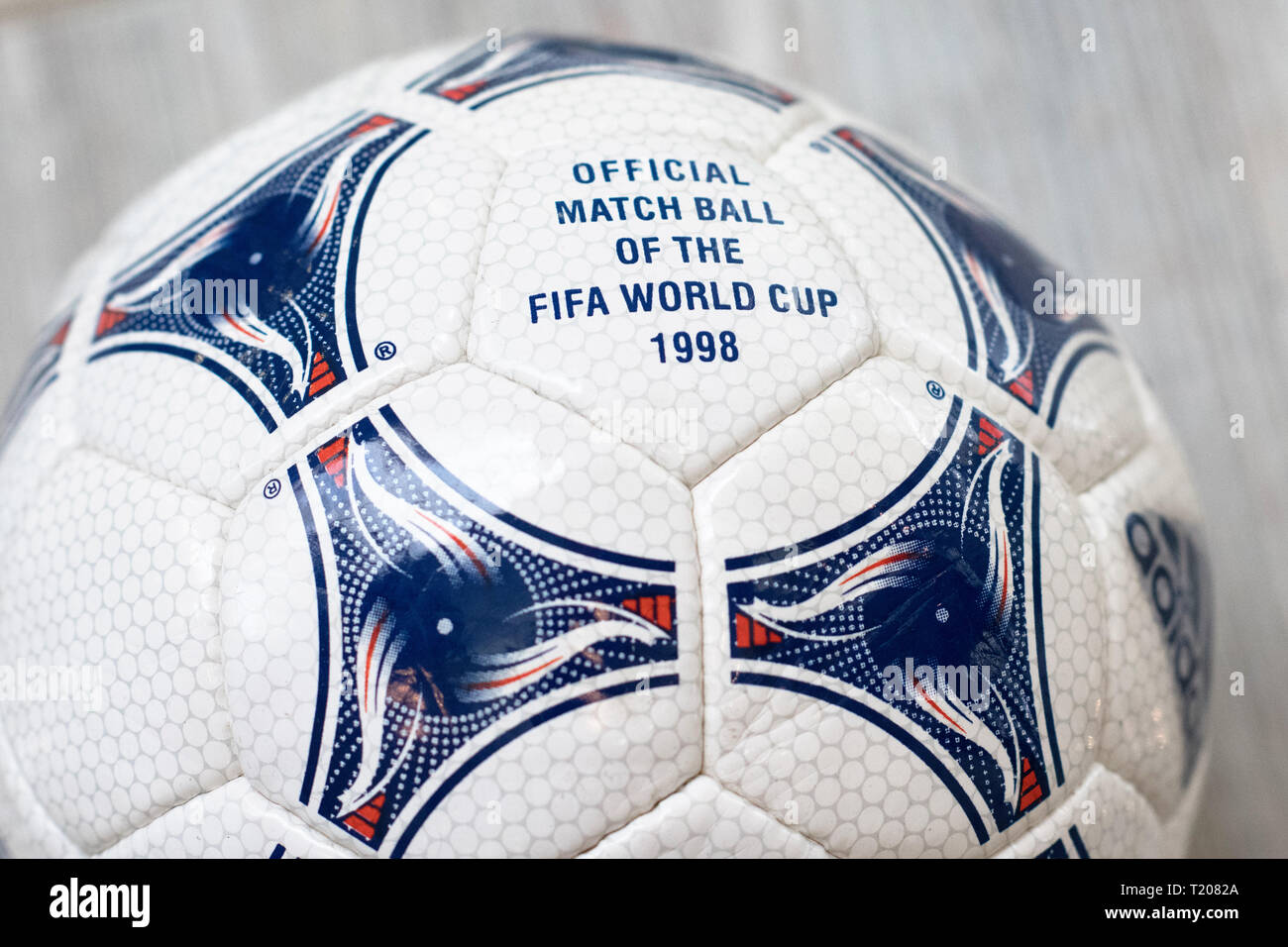 OFFICIAL MATCH BALL OF THE FIFA WORLD CUP 1998. - Stock Image