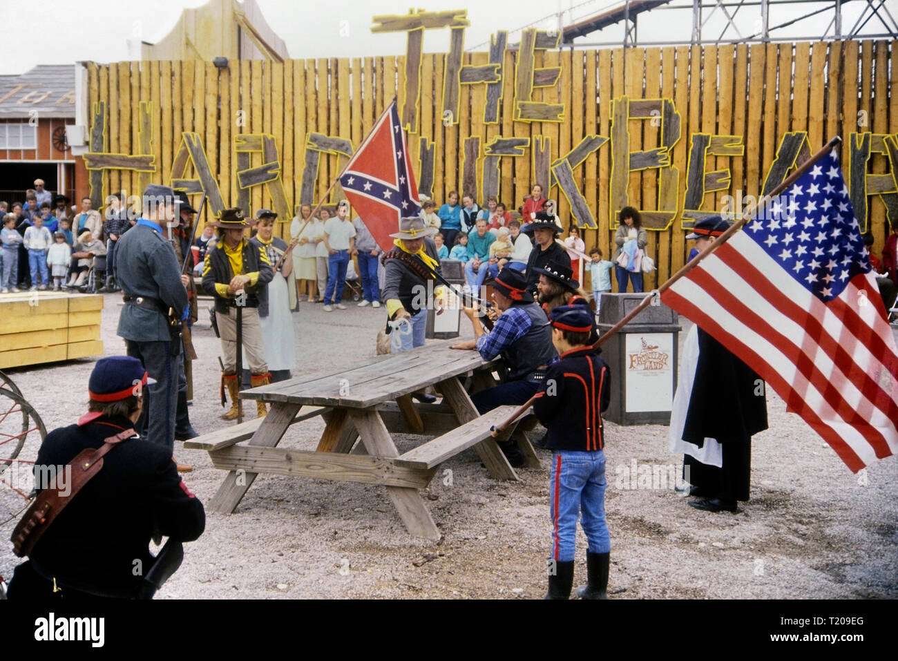 Frontierland Western Theme Park, Morecambe, Lancashire, England, UK. Circa 1980's Stock Photo