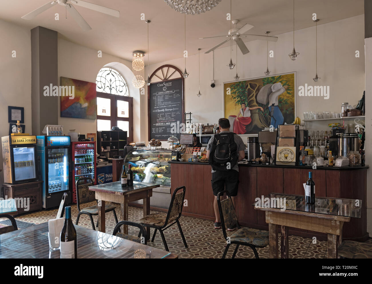 small traditional cafe in the old town casco viejo panama city - Stock Image