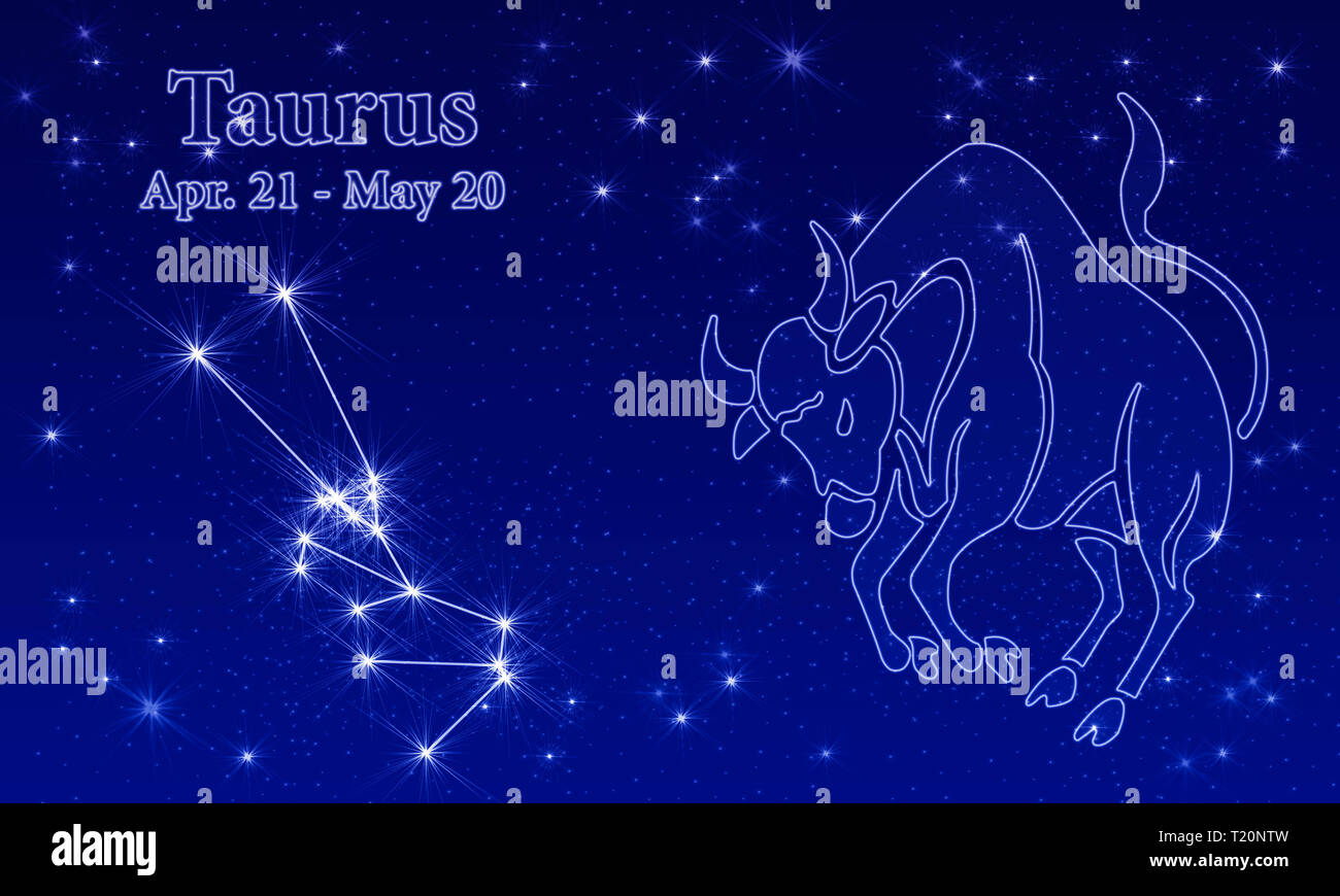 Zodiac sign with star image as relief in front of a dark