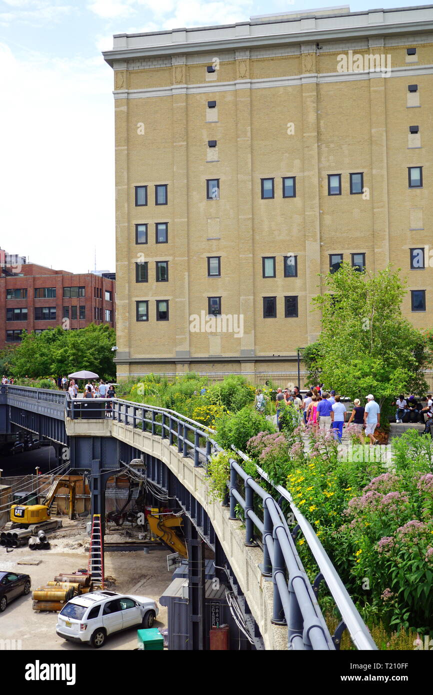 The Highline An Elevated Garden In New York City Stock Photo