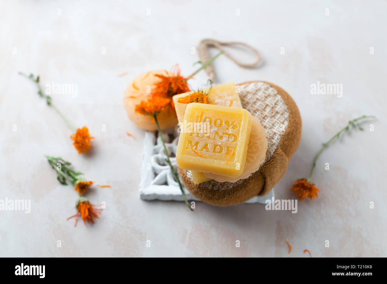 Various glycerin soaps - Stock Image
