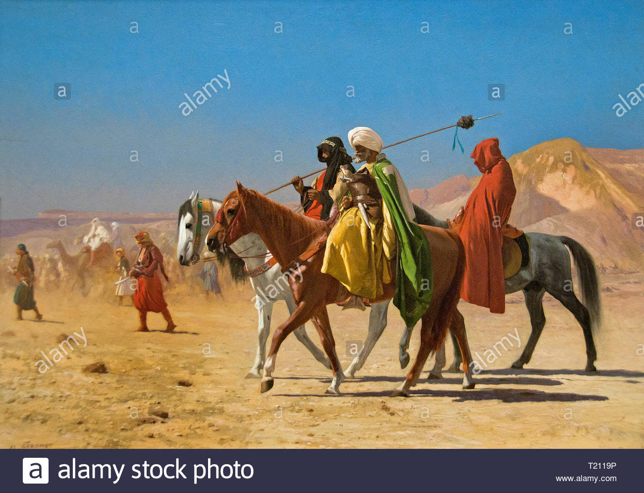 Arabs Crossing the Desert 1970 by Jean Léon Gérôme 1824–1904 Paris French France - Stock Image