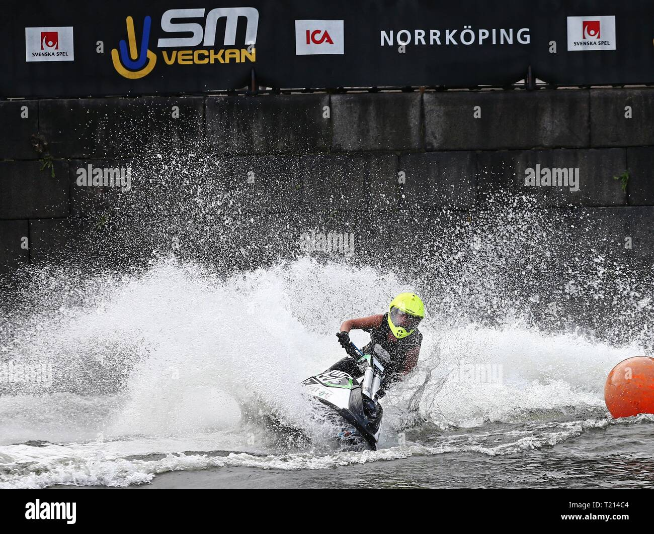 NORRKÖPING 2016-07-10 Nr 98 Emma-Nellie Örtendahl, Orust JSK, på Jetski i Motala ström SM veckan i Norrköping.       Foto Jeppe Gustafsson Stock Photo