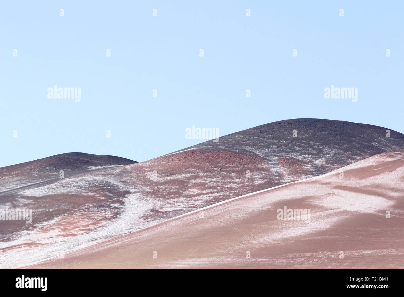 Detail of desert dunes in the bay of Paracas in Pisco - Peru - Stock Image