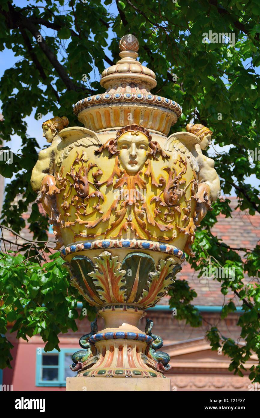Zsolnay Quarter, Pécs, Hungary. Zsolnay-negyed, Pécs, Magyarország. - Stock Image