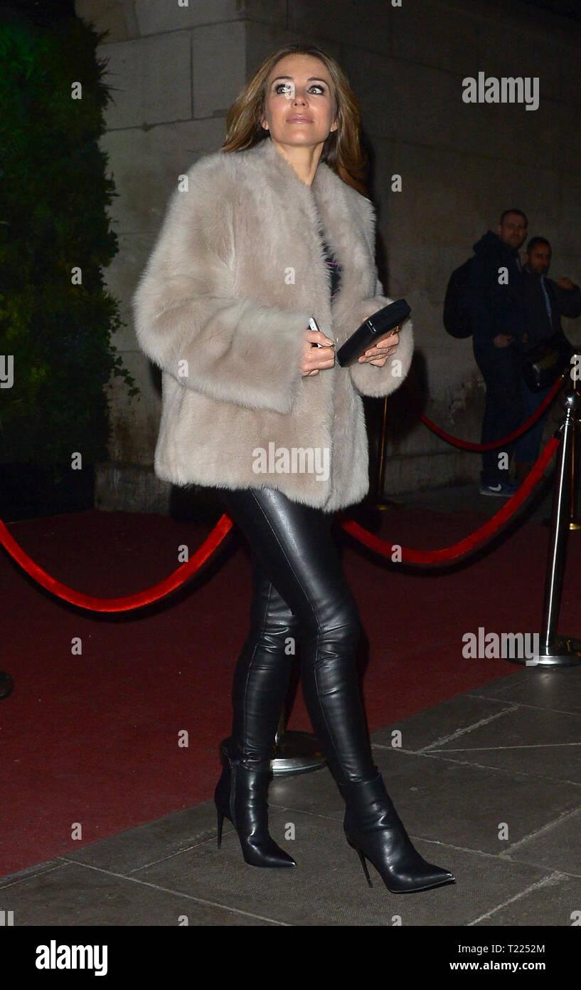 Elizabeth Hurley Leather