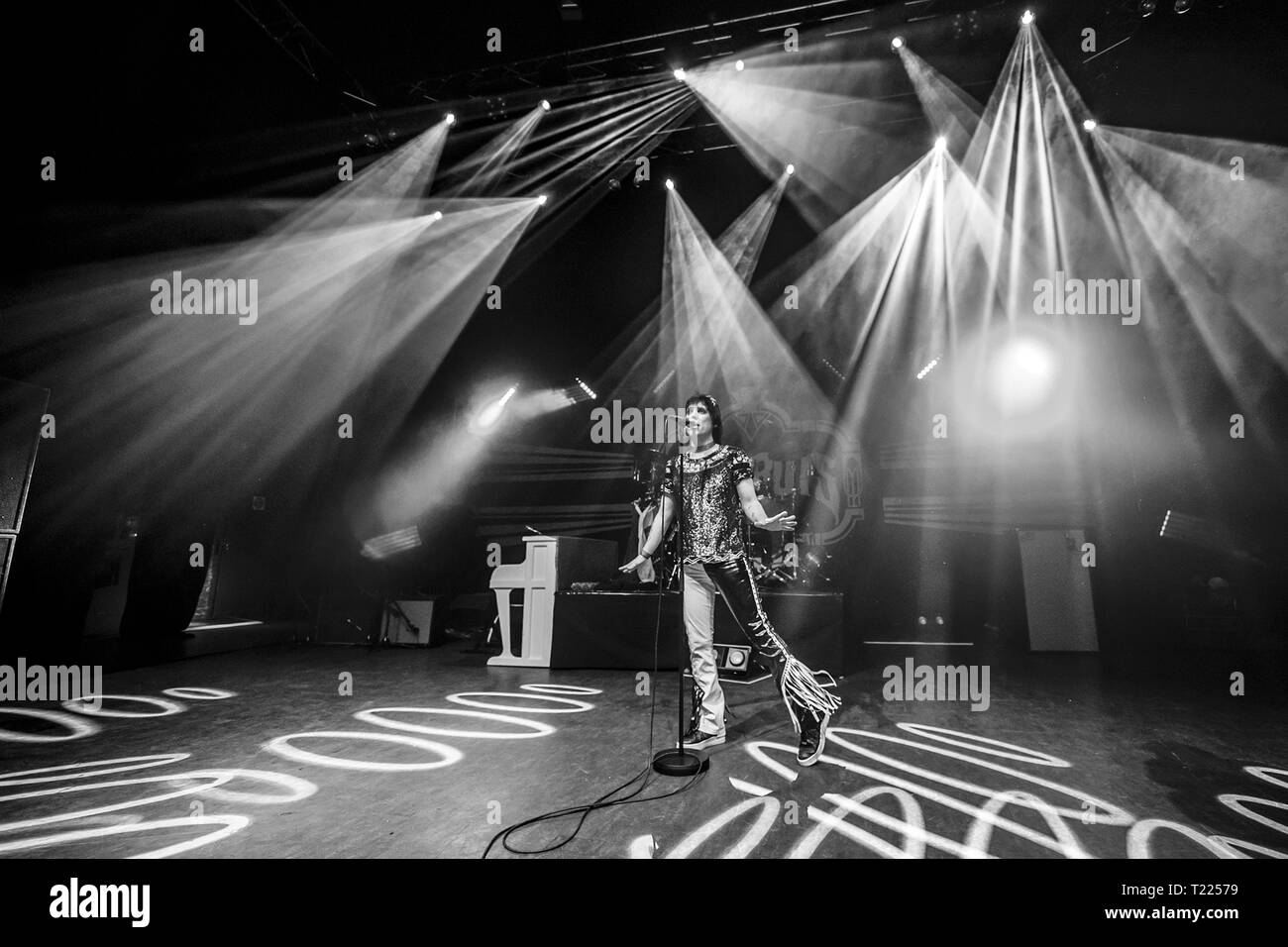 The Struts perform at Shepherd's Bush Empire  Featuring: Luke Spiller, The Struts Where: London, United Kingdom When: 26 Feb 2019 Credit: Neil Lupin/WENN Stock Photo