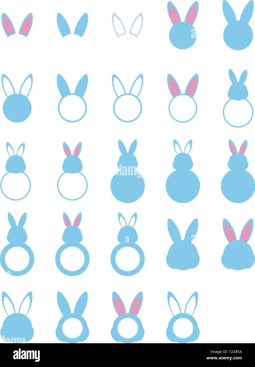 photograph regarding Bunny Silhouette Printable named Preset of 20 4 bunny silhouettes with monograms for