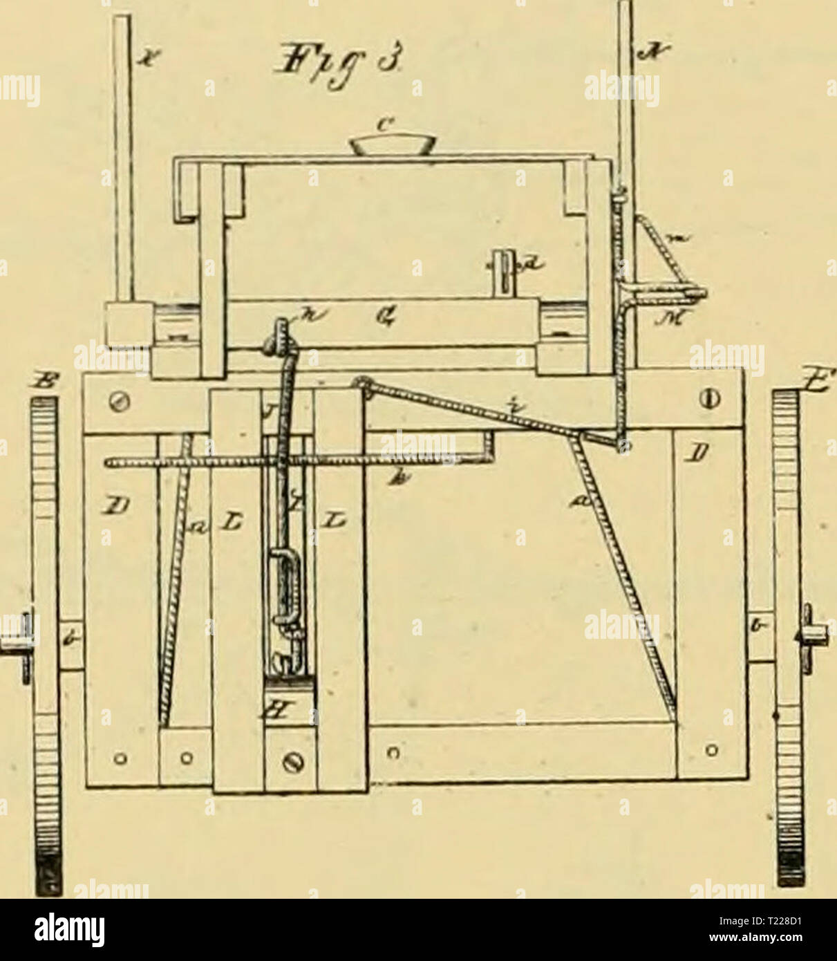 Archive image from page 897 of Digest of agricultural implements, patented Digest of agricultural implements, patented in the United States from A.D. 1789 to July 1881 ..  digestofagricult02alle Year: 1886  PLOWS-WHEEL OR SULKY. B. E. COlVin & I. E. JOBHSON. Plows 185 297. Pilenled D«c. 12. IB76.    JJS.i S. p. LANOSrORt i W. N STEOtl. SULKY ATTACBHEST FOR PLOWS Ml 185.338 P.iLitl Die. Stock Photo