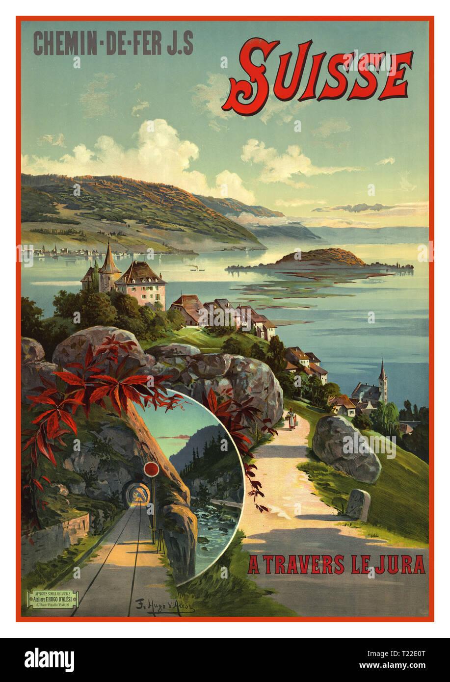 Switzerland 1950 Schynige Platte Vintage Poster Print Retro Style Travel Art