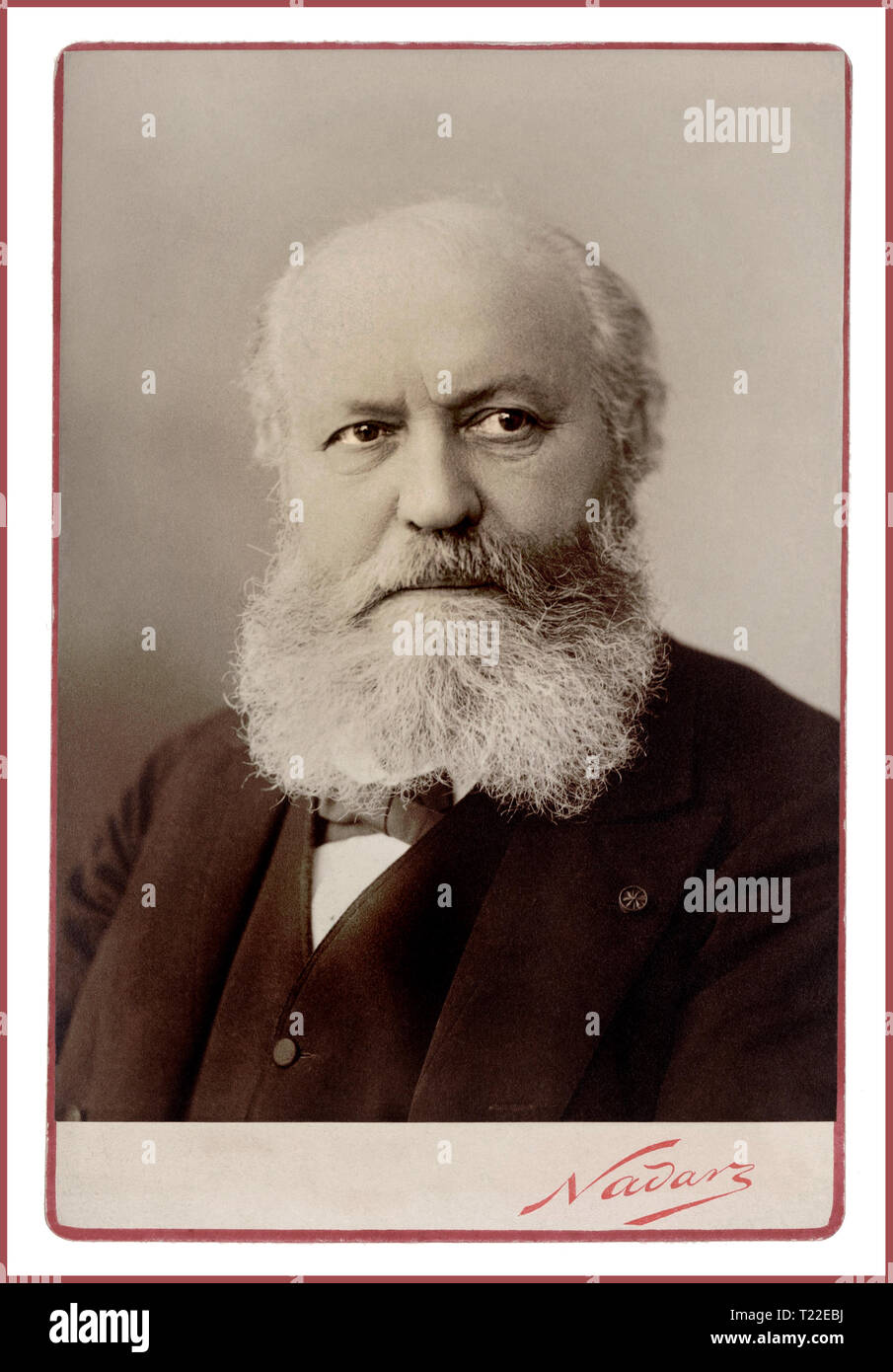 GOUNOD Vintage' Nadar' portrait of Charles-François Gounod a French composer, best known for his Ave Maria, based on a work by Bach, as well as his opera Faust.   Paris Studio Portrait by celebrated and innovative Photographer 'Nadar' Date 1890 - Stock Image