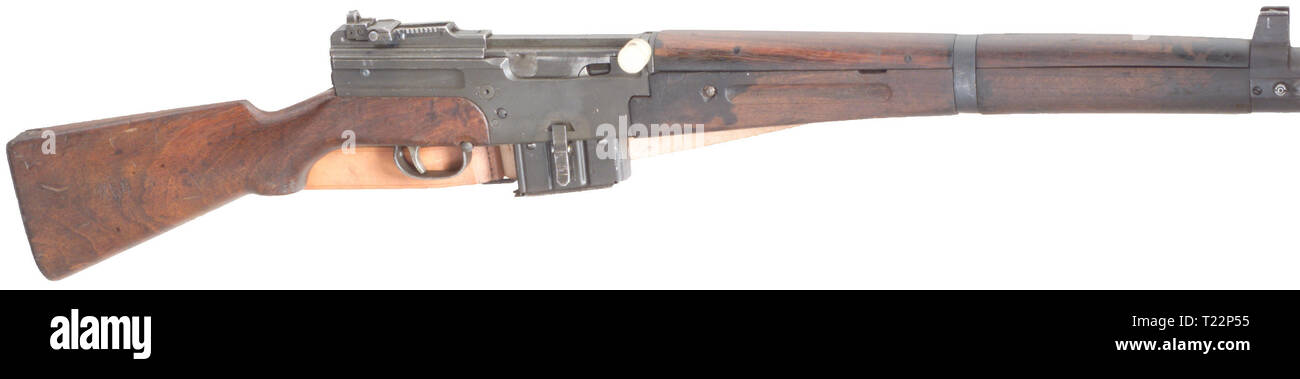 SERVICE WEAPONS, automatic rifle MAS M 1949, calibre 7,5x54, number 33648, Editorial-Use-Only - Stock Image