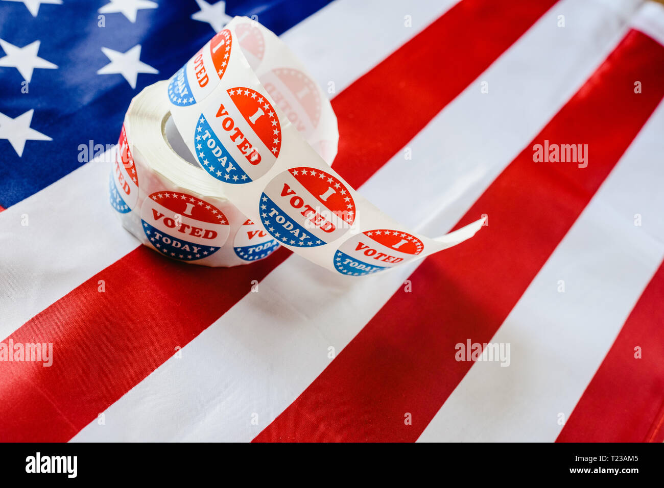 Stickers to indicate that I have already fulfilled the duty to vote today in the American elections. - Stock Image