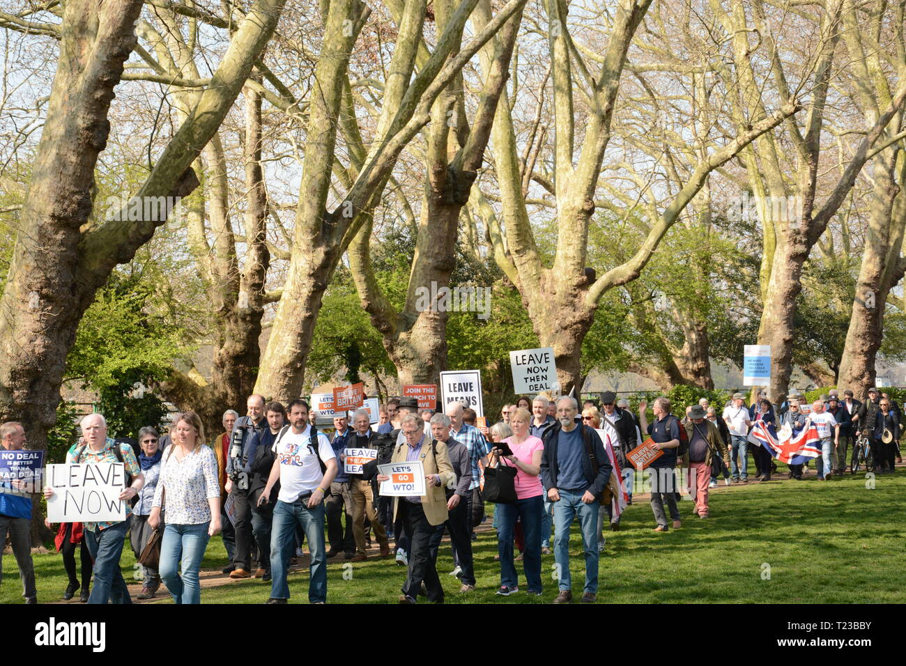Leave Means Leave Rally on the day the UK was supposed to leave the EU - 29th March 2019 - Stock Image