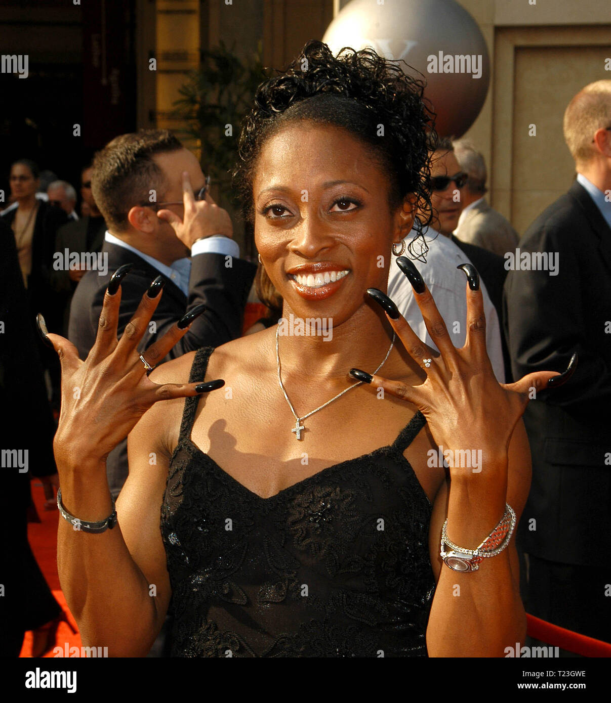 Gail Devers at The 11th Annual ESPY Awards, held at The Kodak Theatre in Hollywood, CA. The event took place on Wednesday, July 16, 2003.  Photo Credit: Sthanlee B. Mirador/ PictureLux - Stock Image