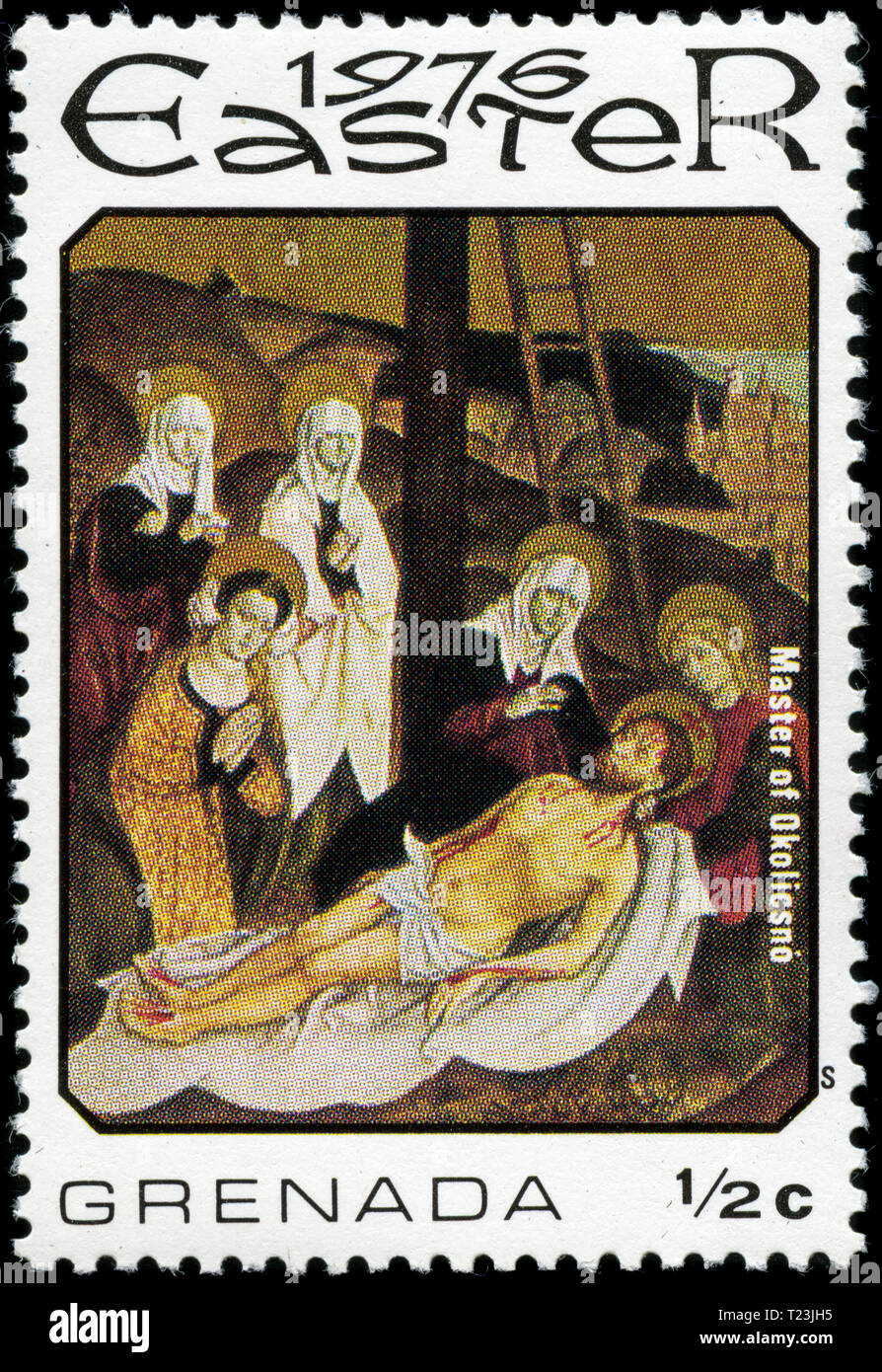 Postage stamp from Grenada in the Easter series issued in 1976 - Stock Image