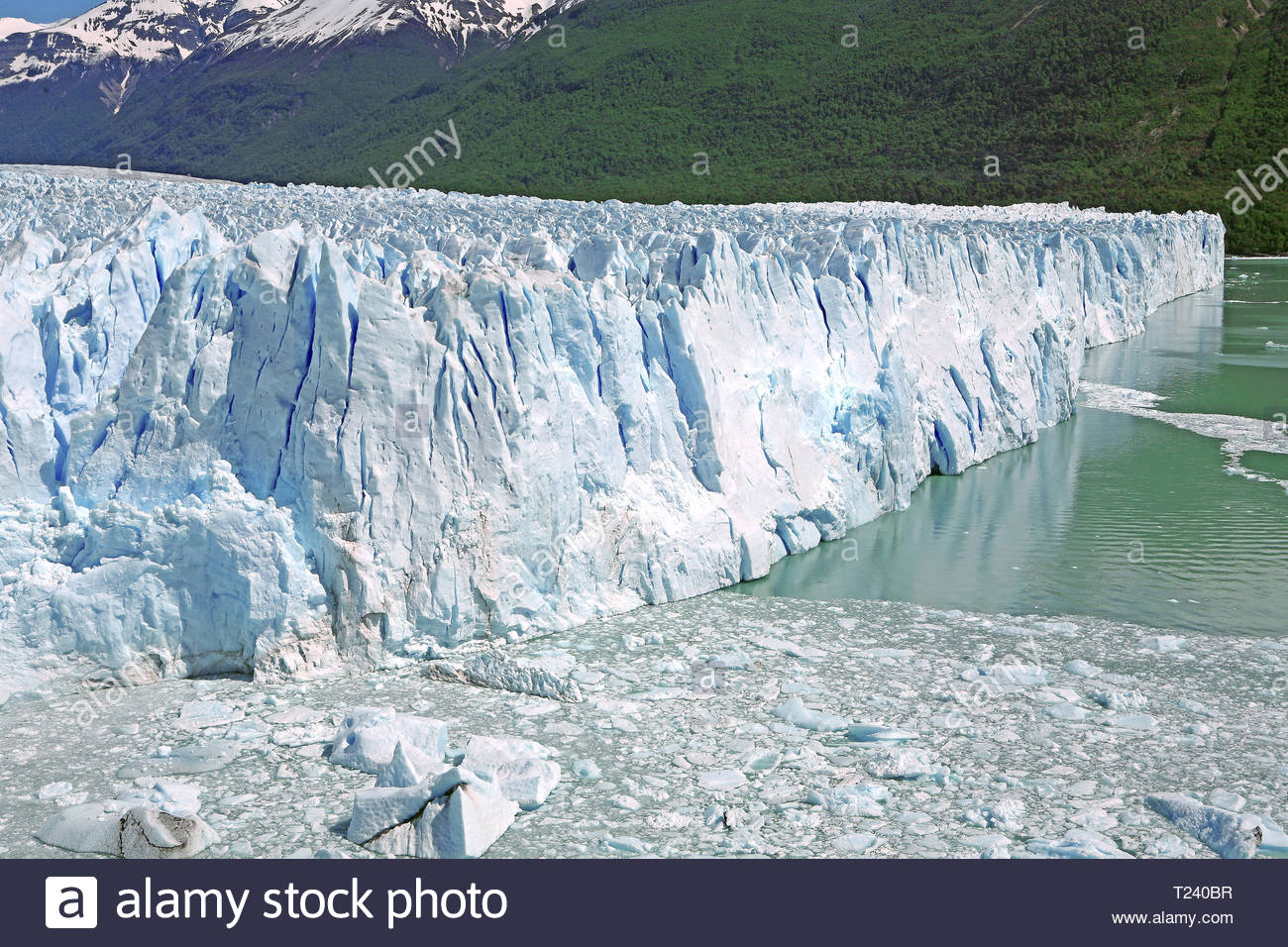 View on Perito Moreno Glacier, Santa Cruz Province, Patagonia, Argentina Stock Photo