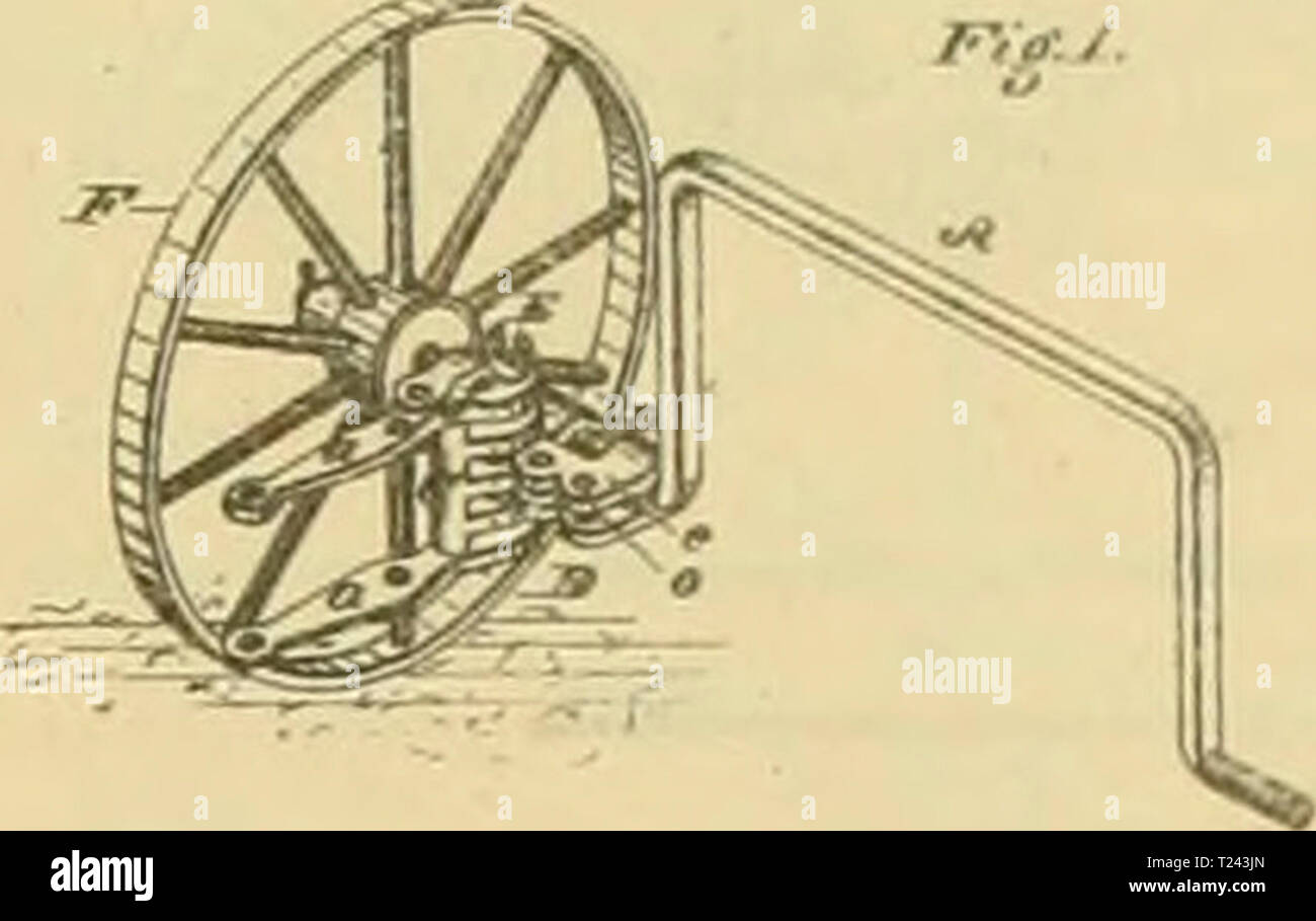 Archive image from page 720 of Digest of agricultural implements, patented Digest of agricultural implements, patented in the United States from A.D. 1789 to July 1881 ..  digestofagricult02alle Year: 1886  H. rELTllAN. CULTIVATOR COUPli:    a- Cti-u JJitt W. p. BROWN. COUPLISQS FOR CULTIVATORS. »,. 190,816. P.1....4 H.y 16. H'. Patented Oct. 9, 1877. - Stock Image