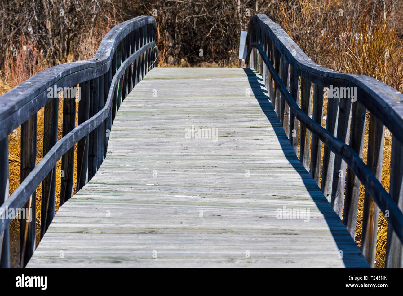 Warped bridge - Stock Image