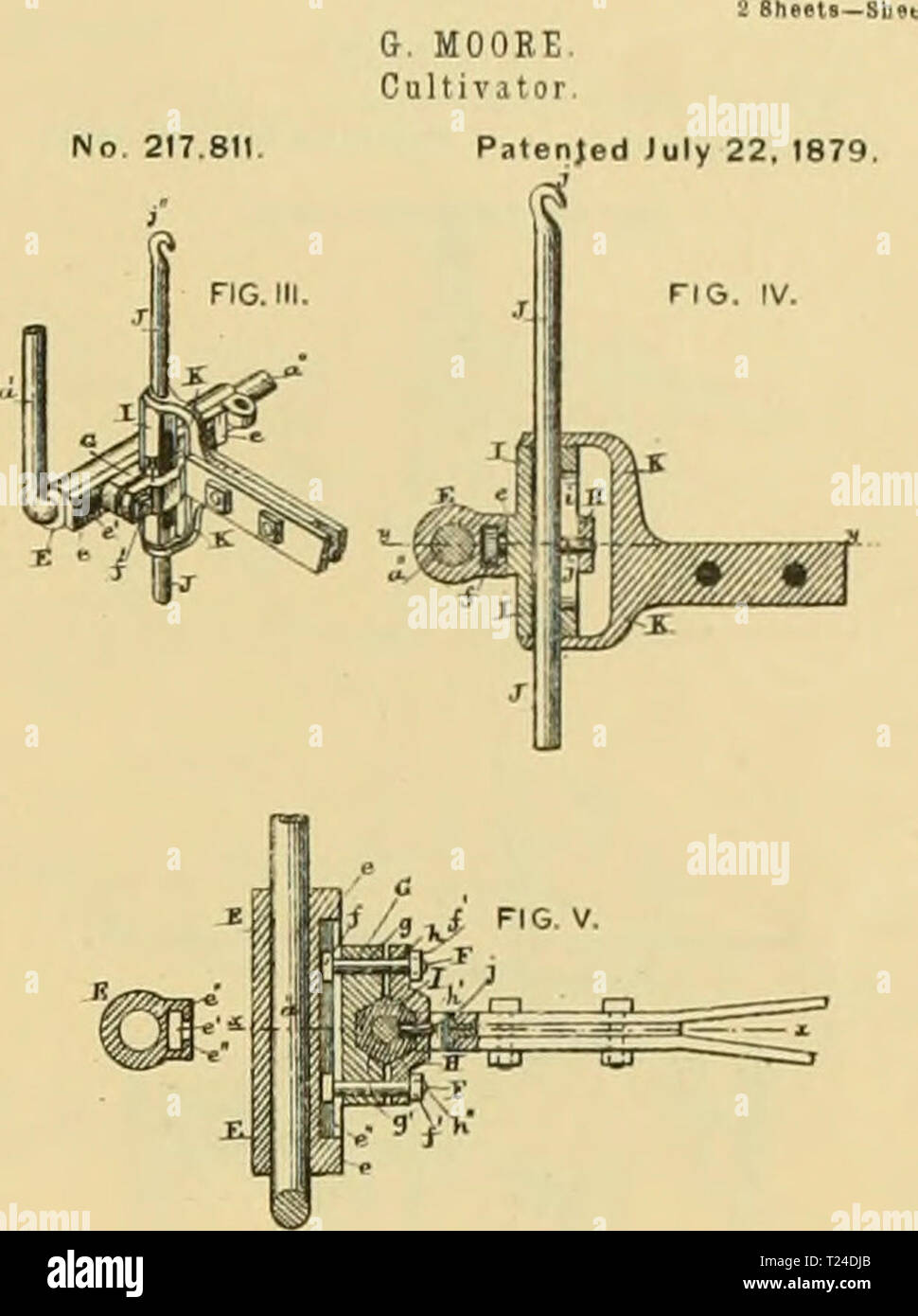 Archive image from page 682 of Digest of agricultural implements, patented Stock Photo
