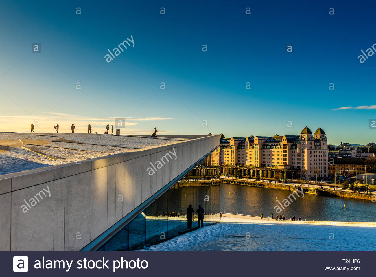 The Oslo Opera House, at the edge of the Oslo Fjord, built in 2008, Oslo, Norway. - Stock Image
