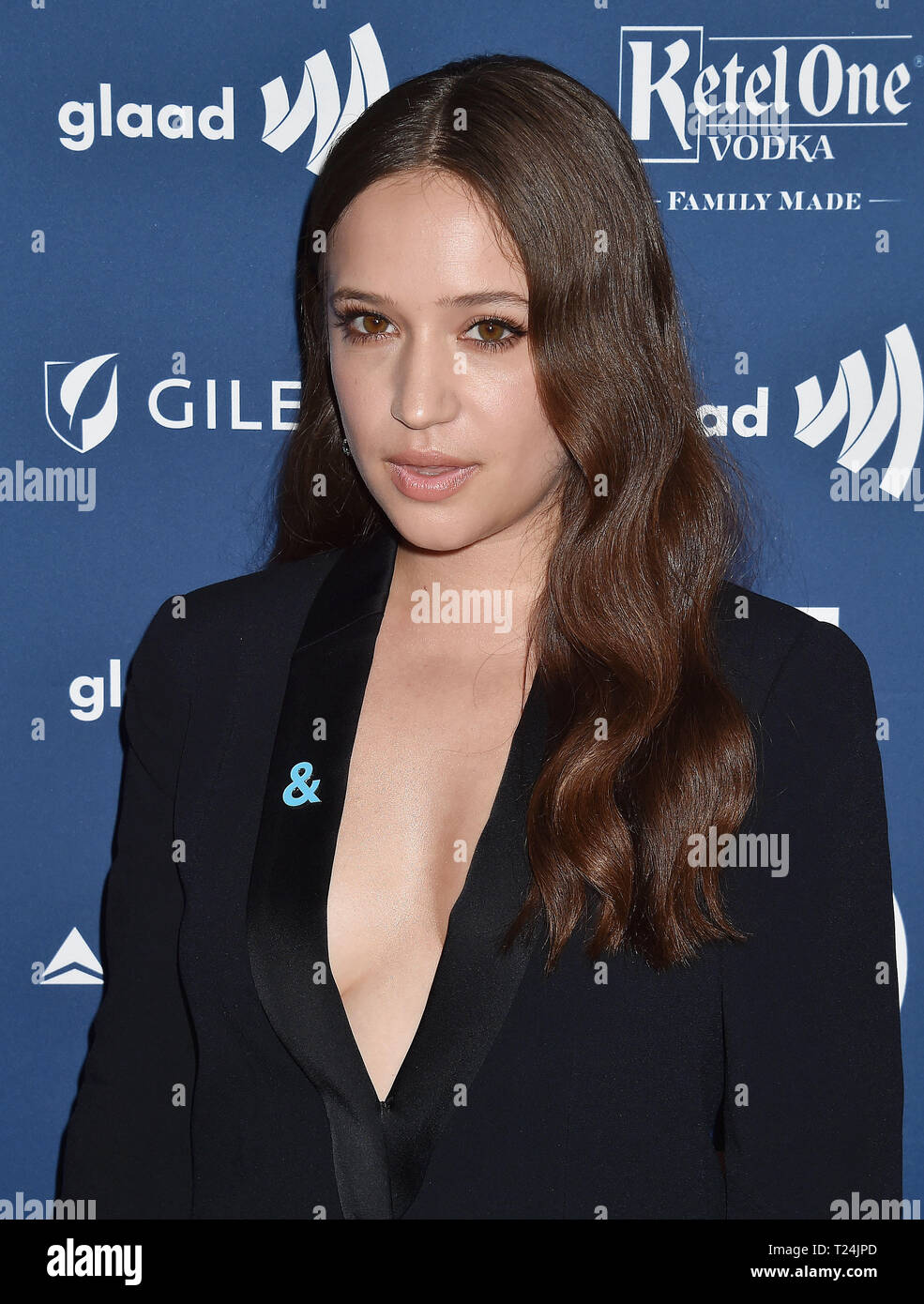 BEVERLY HILLS, CA - MARCH 28: Gideon Adlon attends the 30th Annual GLAAD Media Awards at The Beverly Hilton Hotel on March 28, 2019 in Beverly Hills, California. - Stock Image