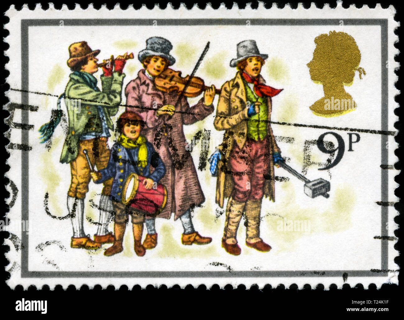 Postage stamp from the United Kingdom and Northern Ireland in the Christmas 1978 - Carol Singers series - Stock Image