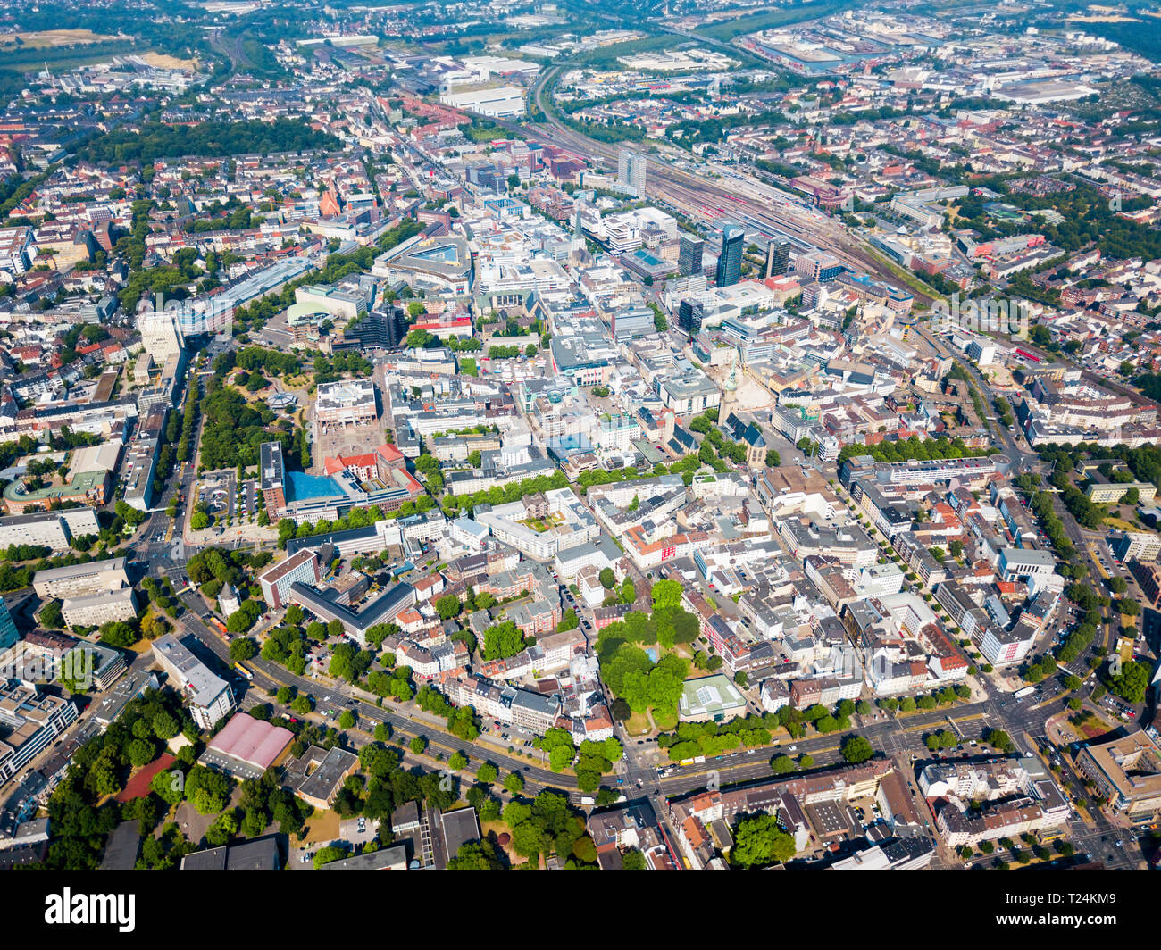 Dortmund city centre aerial panoramic view in Germany Stock Photo - Alamy