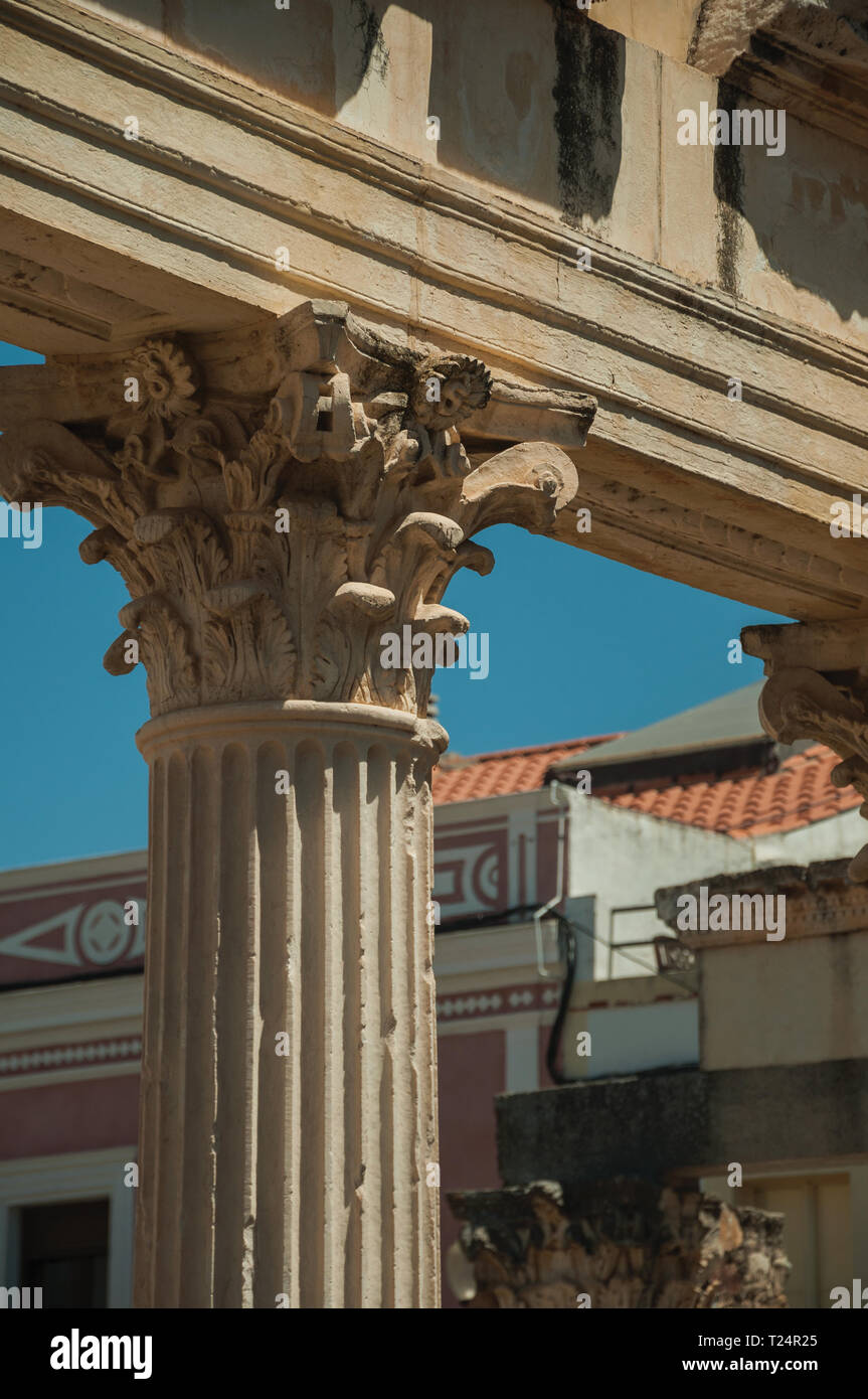 Corinthian Style Marble Columns And Architrave In The Roman
