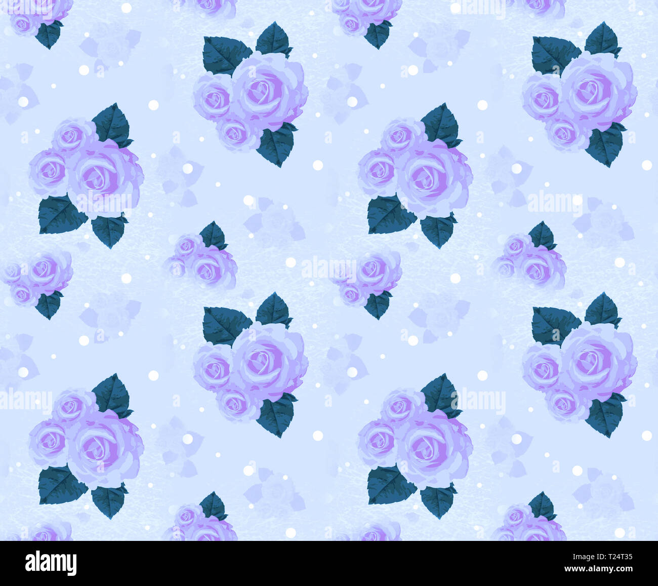Seamless Wall Paper With Roses Lilac A Vintage Decorative