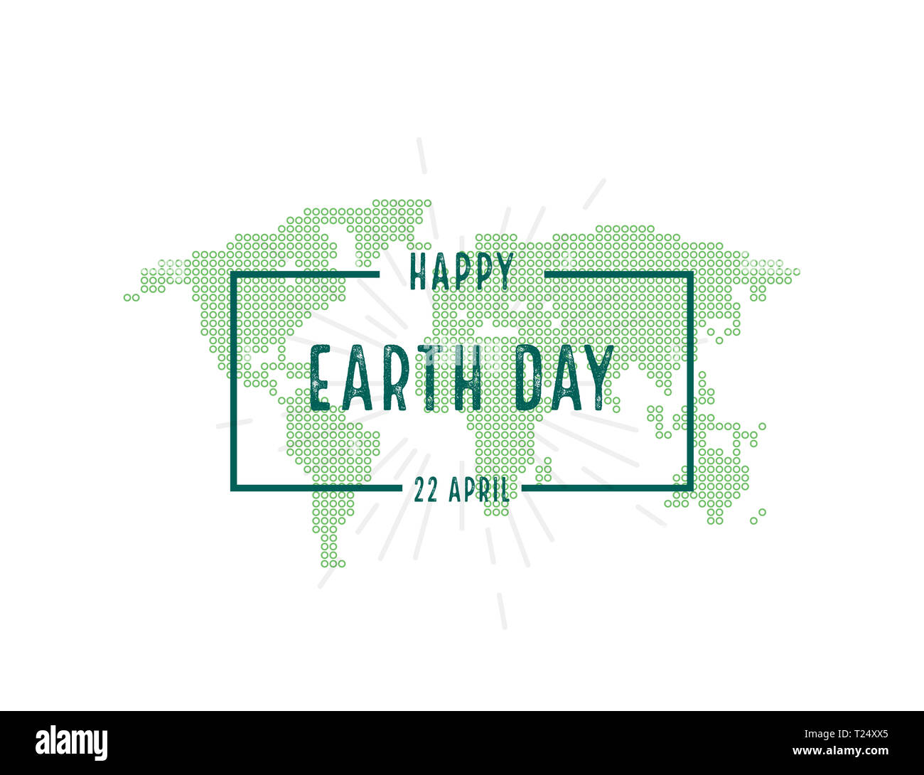 earth day illustration for happy earth day vector in flat style T24XX5