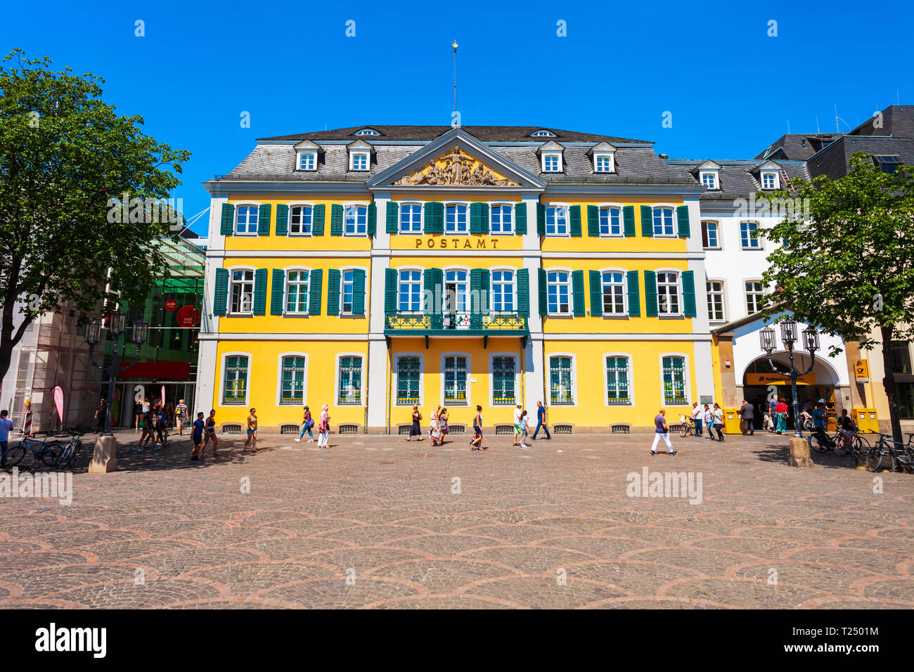 BONN, GERMANY - JUNE 29, 2018: Post office in the centre of Bonn city in Germany Stock Photo