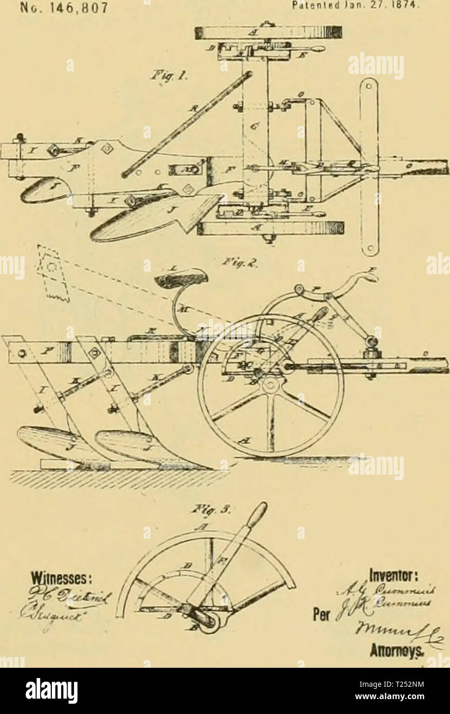 Archive image from page 848 of Digest of agricultural implements, patented - Stock Image