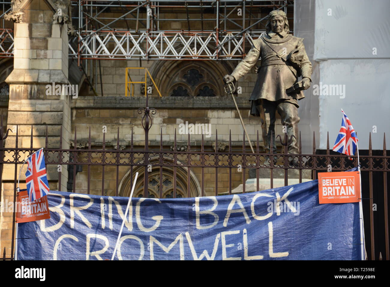 Leave Means Leave Rally on the day the UK was supposed to leave the EU - 29th March 2019 Stock Photo