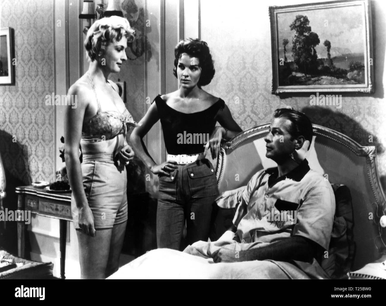 The Strange Awakening (1958) Lex Barker, Lisa Gastoni, Carole ...