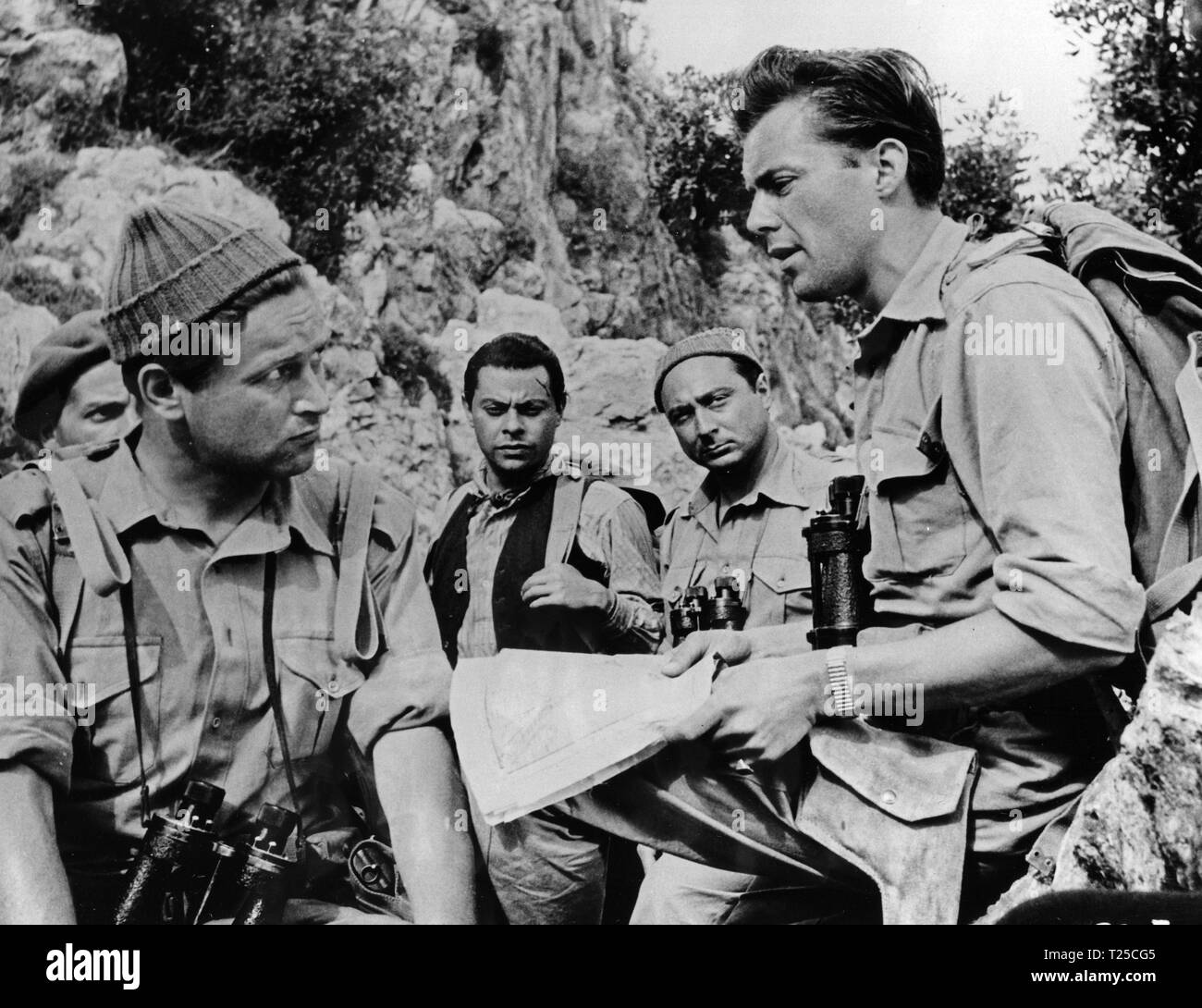 They Who Dare (1954) Denholm Elliott, Michael Mellinger, Gerard Oury, Dirk Bogarde,      Date: 1954 - Stock Image