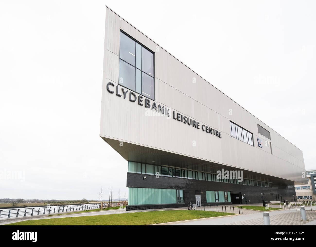 Clydebank Leisure Centre, Queen's Quay, Clydebank, Scotland, UK - Stock Image