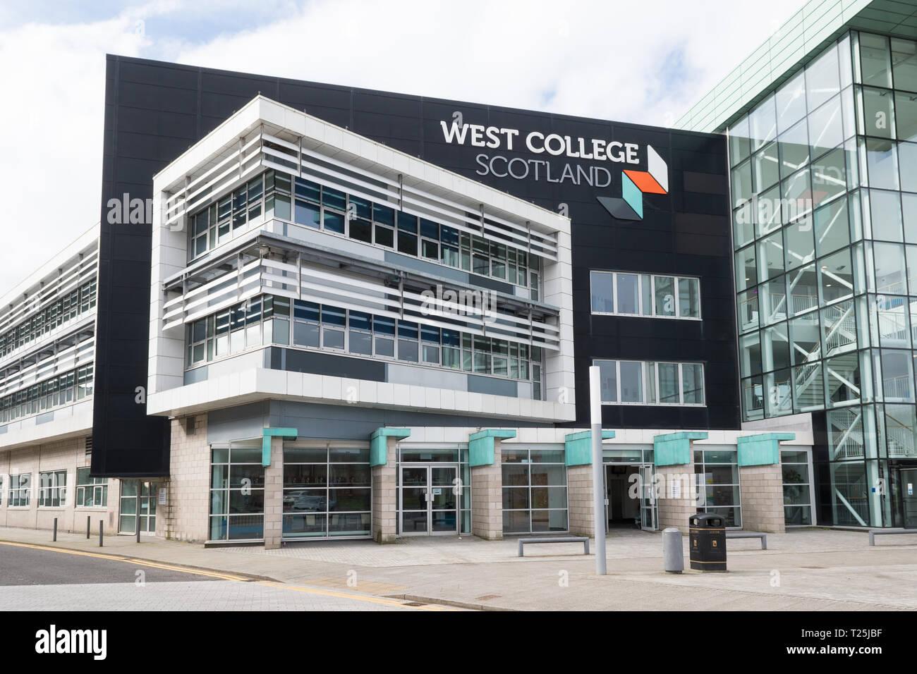 West College Scotland, Clydebank campus, Queen's Quay, Clydebank, Scotland, UK Stock Photo