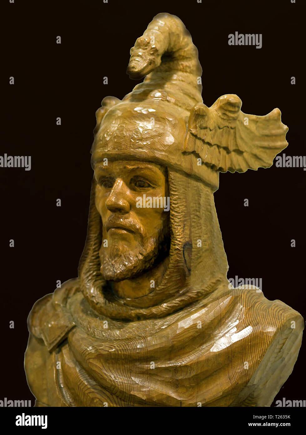 Busto de Jaime I por el escultor valenciano Francisco Serra Andrés - Stock Image