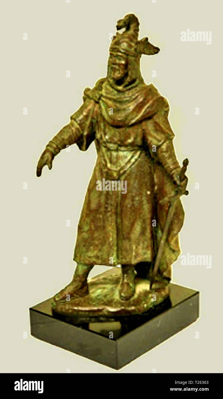 Escultura de Jaime I por el escultor valenciano Francisco Serra Andrés - Stock Image