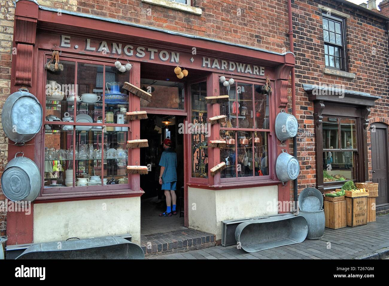The Black Country Living Museum, an open-air museum of rebuilt historic buildings in Dudley, West Midlands, England, UK - Stock Image