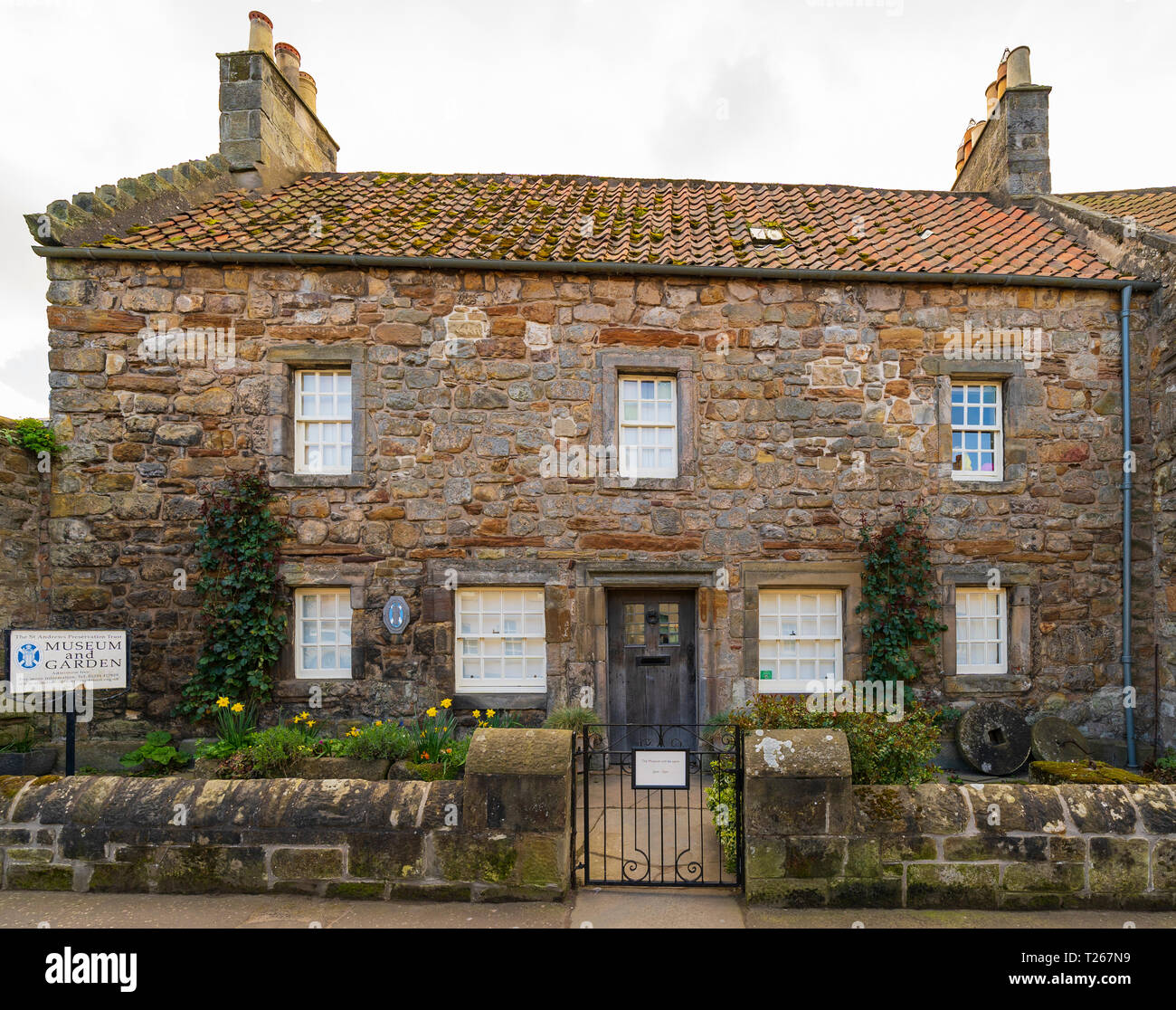 House containing St Andrews Preservation Trust in St Andrews, Fife, Scotland, UK - Stock Image