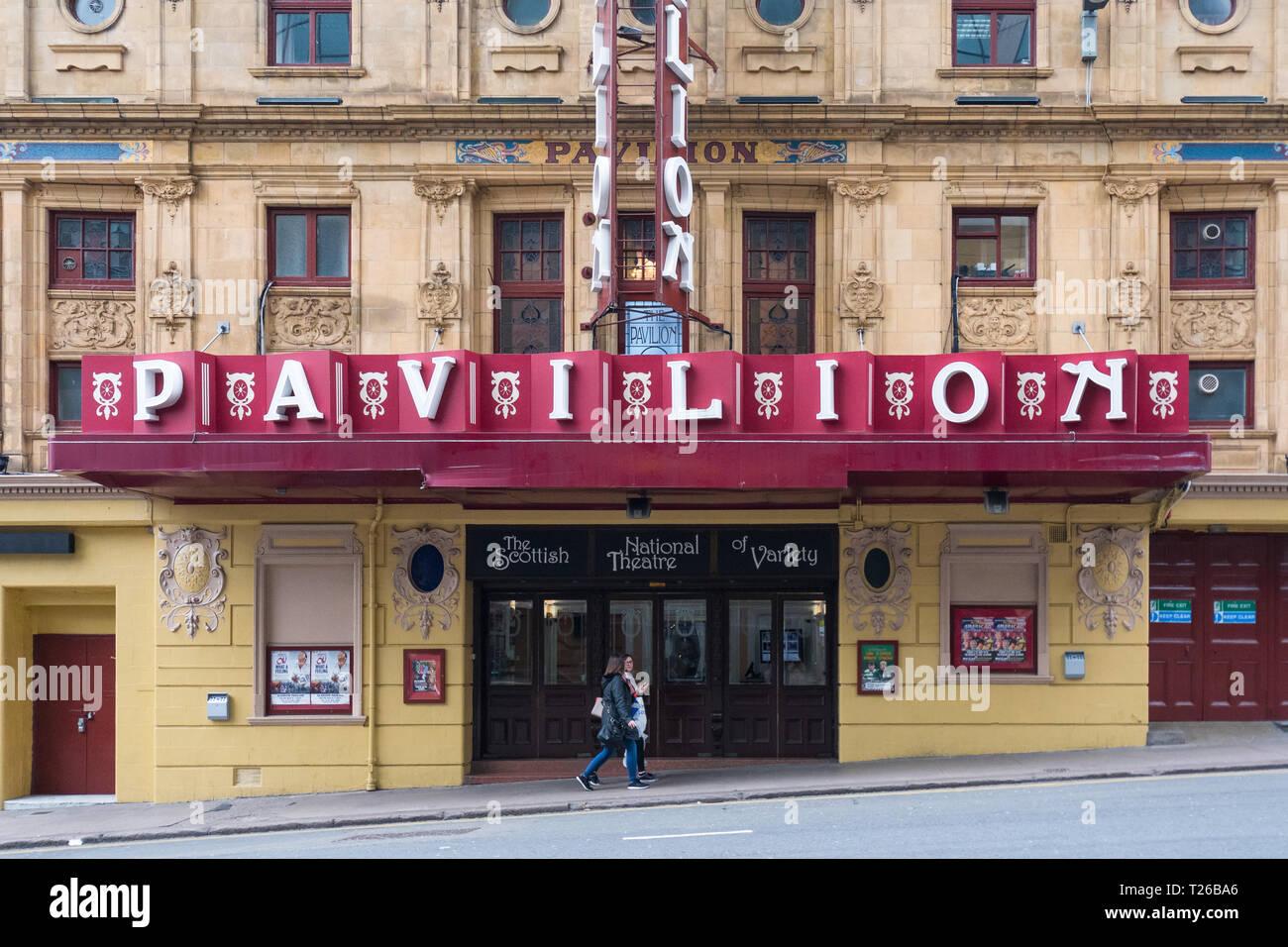 Pavilion Theatre - The Scottish National Theatre of Variety - Glasgow, Scotland, UK - Stock Image