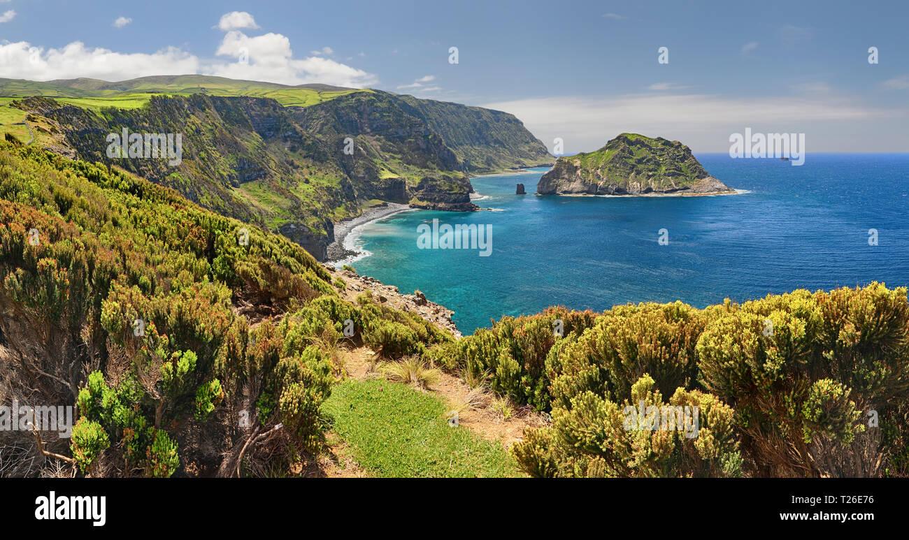Northern Coast at Flores near Ponta Delgada (Azores islands) Stock Photo