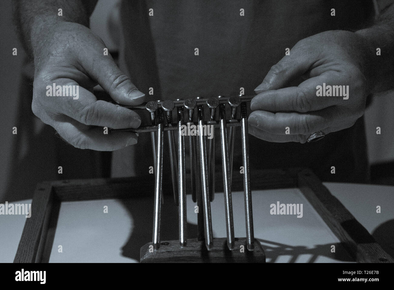 Working A Puzzle - Stock Image