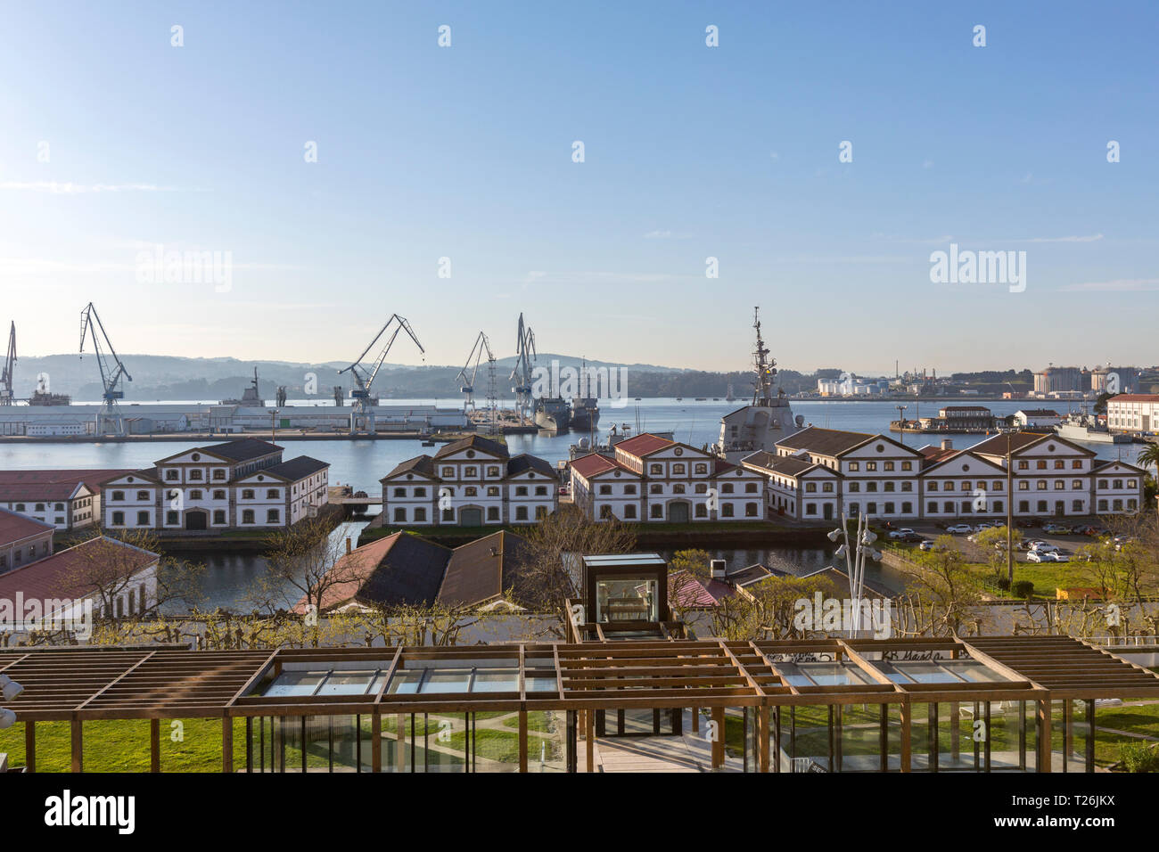 Ferrol Naval Base,  military base and arsenal of the Spanish Navy in  Ferrol, A Coruña Province, Galicia, Spain - Stock Image