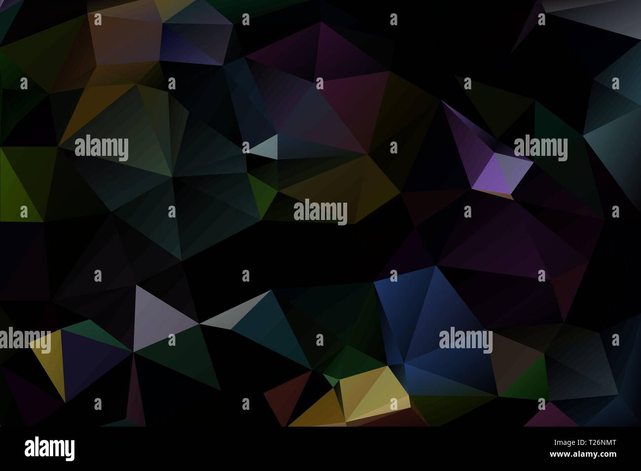 Dark Abstract Background Of Multicolored Triangles Stock