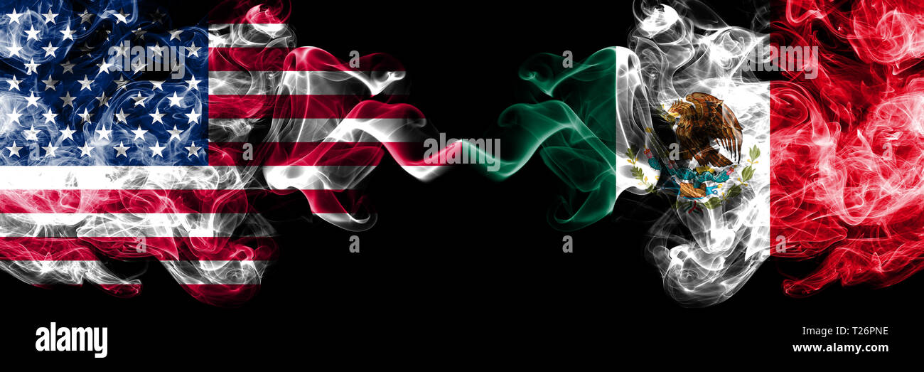 United States Of America Vs Mexico Mexican Smoky Mystic Flags